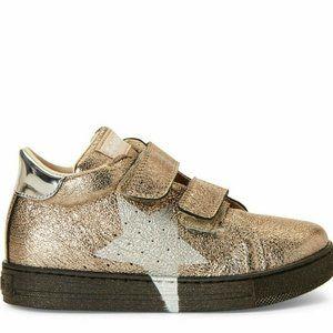 FALCOTTO Gold Star Metallic Low-Top Sneakers 2.5